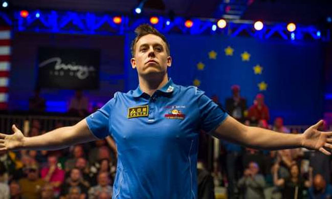 Europe lead 3-2 in the Mosconi Cup